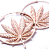Sativa Earrings from Maya Jewelry in rose gold