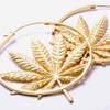 Sativa Earrings from Maya Jewelry in yellow gold
