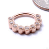Scalloped Eternity Clicker in Gold from Venus by Maria Tash in rose gold