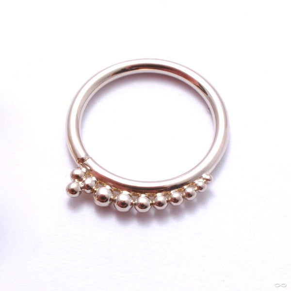 Shadow Play Seam Ring in Gold with Triplet from Sleeping Goddess Jewelry in white gold