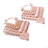 Shawl Earrings from Tawapa in Rose-gold-plated Brass
