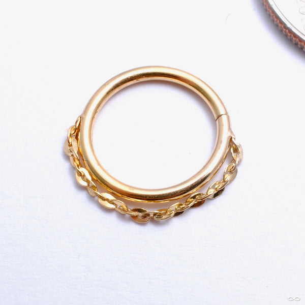 Spark Seam Ring in Gold from Pupil Hall in yellow gold