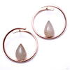 Stay Sexy Earrings from Buddha Jewelry with rutilated quartz