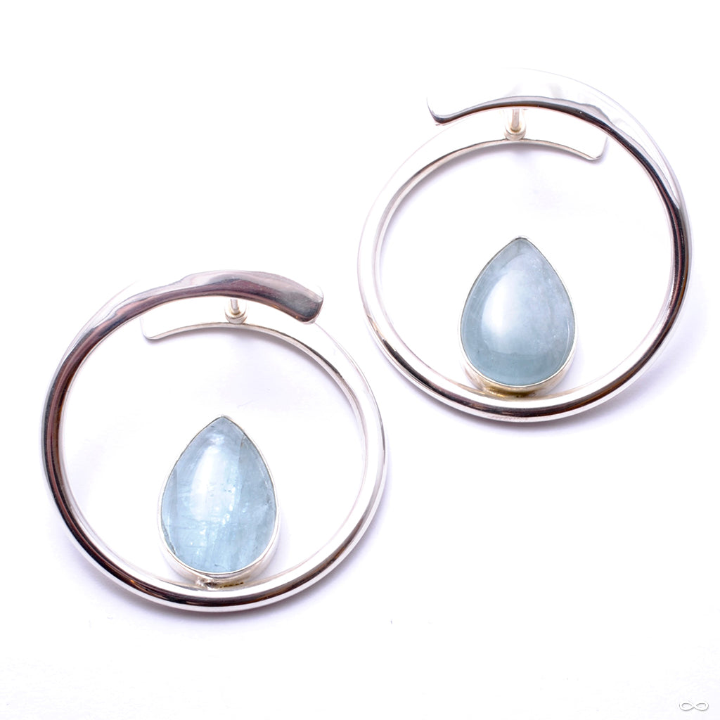 Stay Sexy Earrings from Buddha Jewelry with aquamarine