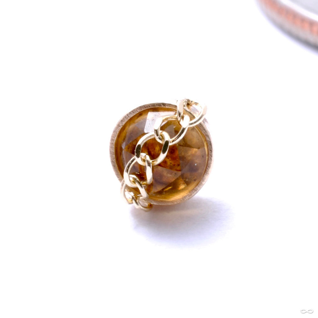 Sweetness Press-fit End in Gold from Pupil Hall with citrine