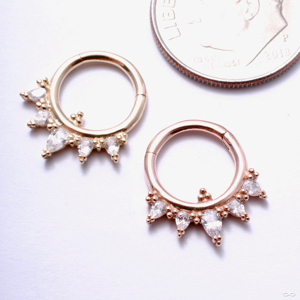 Taja Clicker in Gold from Buddha Jewelry in rose gold