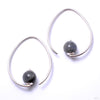 Tear Dew Drop Hoops from Diablo Organics with labradorite
