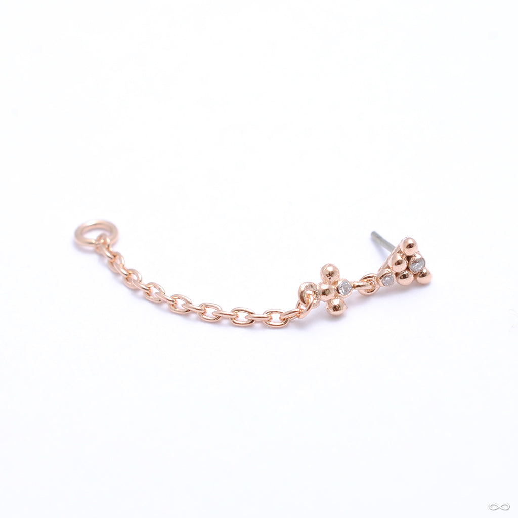 This & That Mini Lasso Press-fit End in Gold from Pupil Hall in rose gold