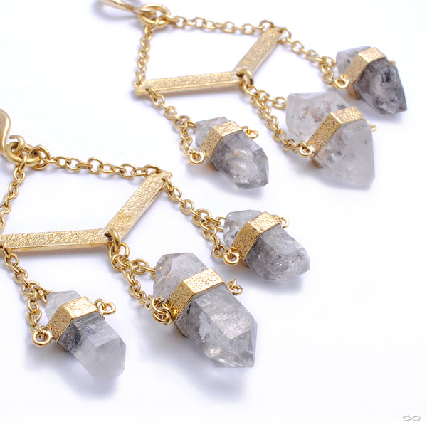 Tibetan Crystal Dangles with Clear Quartz from Diablo Organics