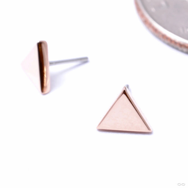 Triangle Press-fit End in Gold from Anatometal in rose gold