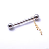Trio Bead Nipple Charm in Gold from Pupil Hall in yellow gold