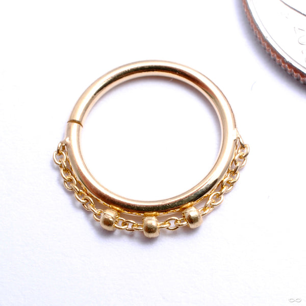 Trio Bead Seam Ring in Gold from Pupil Hall in yellow gold