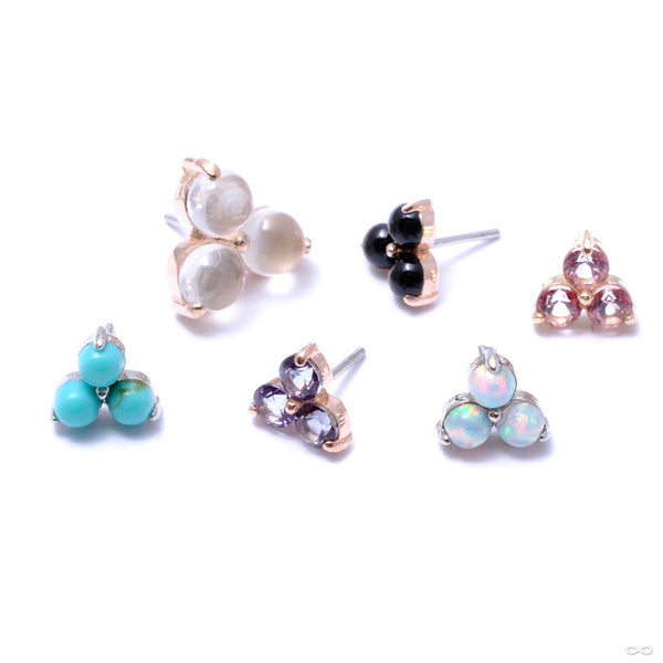Trio Press-fit End in Gold from Anatometal in assorted materials