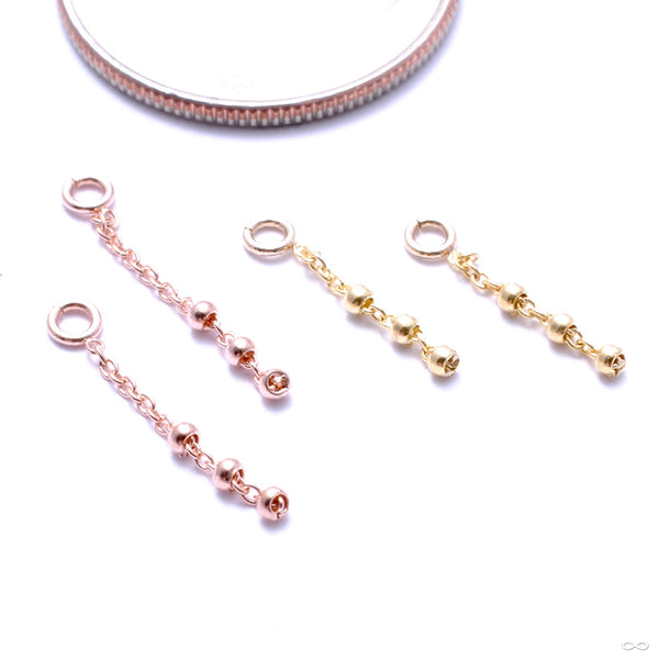 Trio Bead Charm in Gold from Pupil Hall in assorted materials