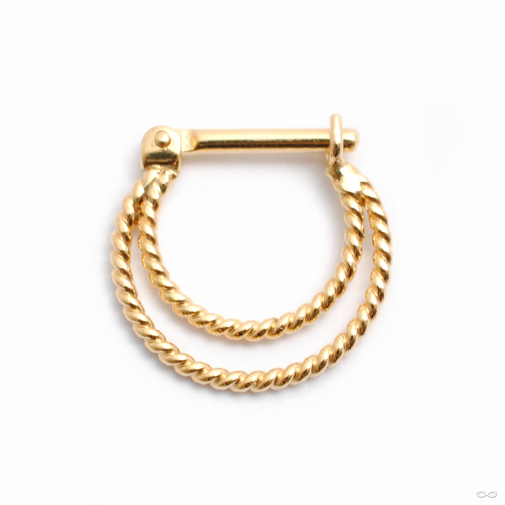 Twisted Sonder Hinged Ring in Gold from Quetzalli in yellow gold