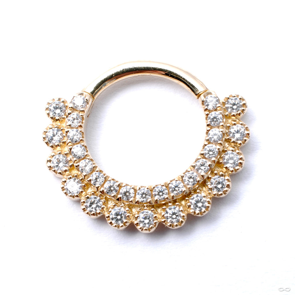 Apsara Clicker in Gold from Venus by Maria Tash in Clear CZ