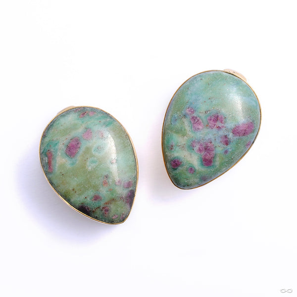 Stone Spade Weights from Diablo Organics with ruby fuchsite