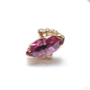 Beaded Marquise Press-fit End in Gold from BVLA with Rhodolite