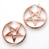 Ace of Pentacles Earrings from Maya Jewelry in Rose Gold-plated Copper