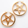 Ace of Pentacles Earrings from Maya Jewelry in Yellow Gold-plated Brass