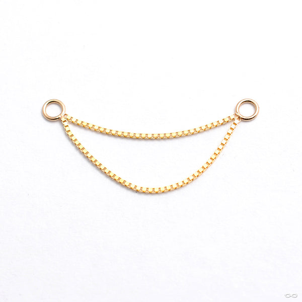 Double Box Chain in Gold from Buddha Jewelry in yellow gold