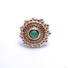 Afghan Press-fit End in Gold from BVLA with Chrysoprase