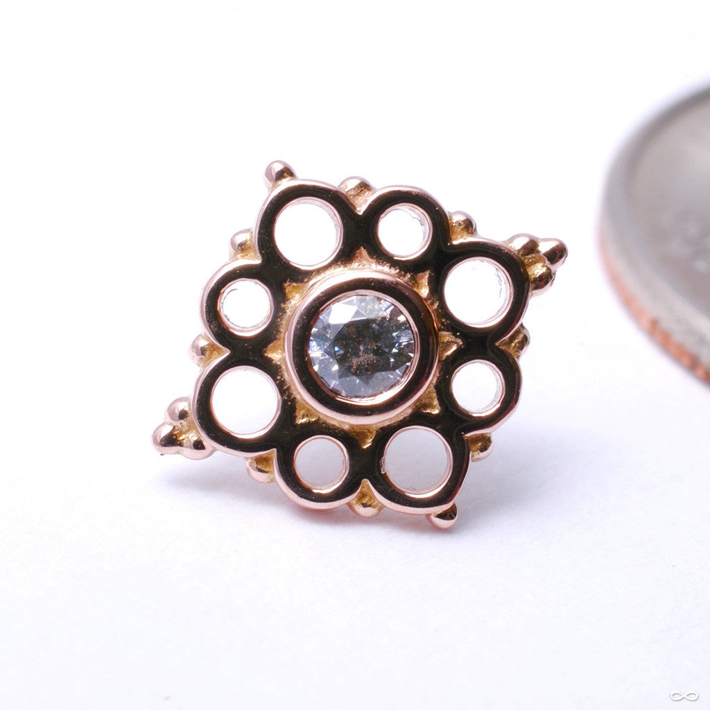 Angela Press-fit End in Gold from BVLA with Clear CZ