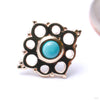 Angela Press-fit End in Gold from BVLA with Turquoise