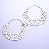 Azteka Hoop Earrings from Eleven44 in White Brass
