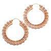 Portal Earrings from Maya Jewelry in Rose-gold-plated Copper