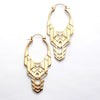 Transformer Earrings from Tawapa in Yellow-gold-plated Brass