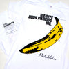 Infinite Body Piercing Andy Warhol Banana White T-Shirt