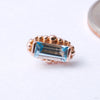 Beaded Baguette Press-fit End in Gold from BVLA with Swiss Blue Topaz