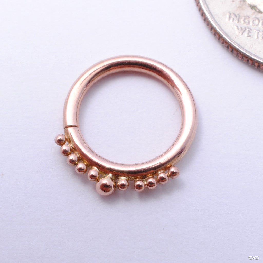 Graduating Beaded Seam Ring in Gold from Scylla