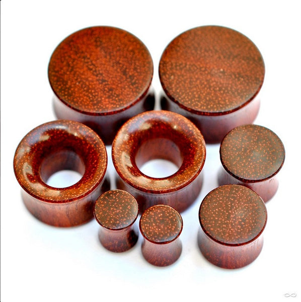 Bloodwood Plugs & Eyelets from Bishop Organics