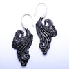 Bonita Earrings from Maya Jewelry in Silver with Horn