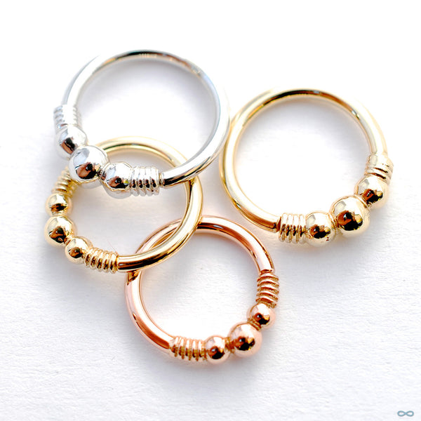 Myla Seam Rings in Gold from BVLA
