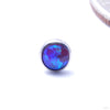Bezel-set Cabochon Press-fit End in Titanium from NeoMetal with Purple Opal