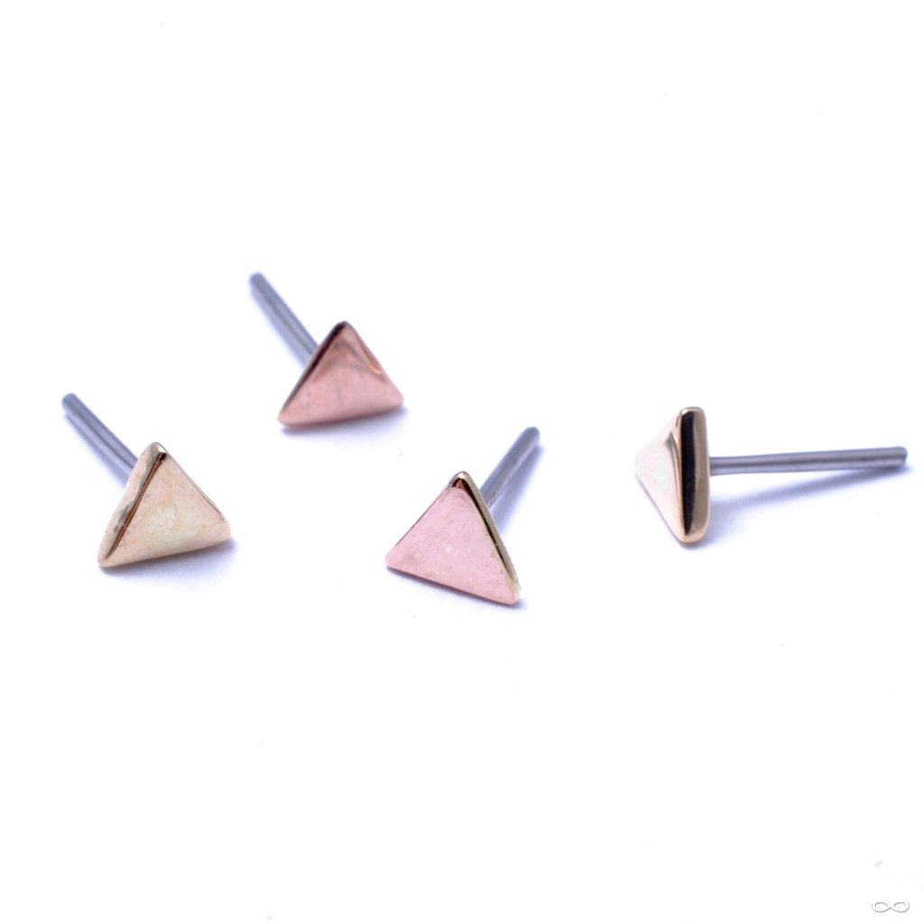 Triangle Press-fit End in Gold from LeRoi