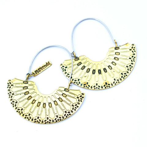Cellular Hoop Earrings from Eleven44