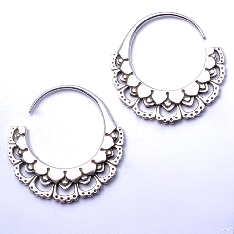 Chantilly Earrings from Maya Jewelry in Silver