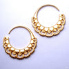 Chantilly Earrings from Maya Jewelry in Yellow Gold-plated Brass