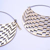 Checkers Hoop Earrings from Eleven44