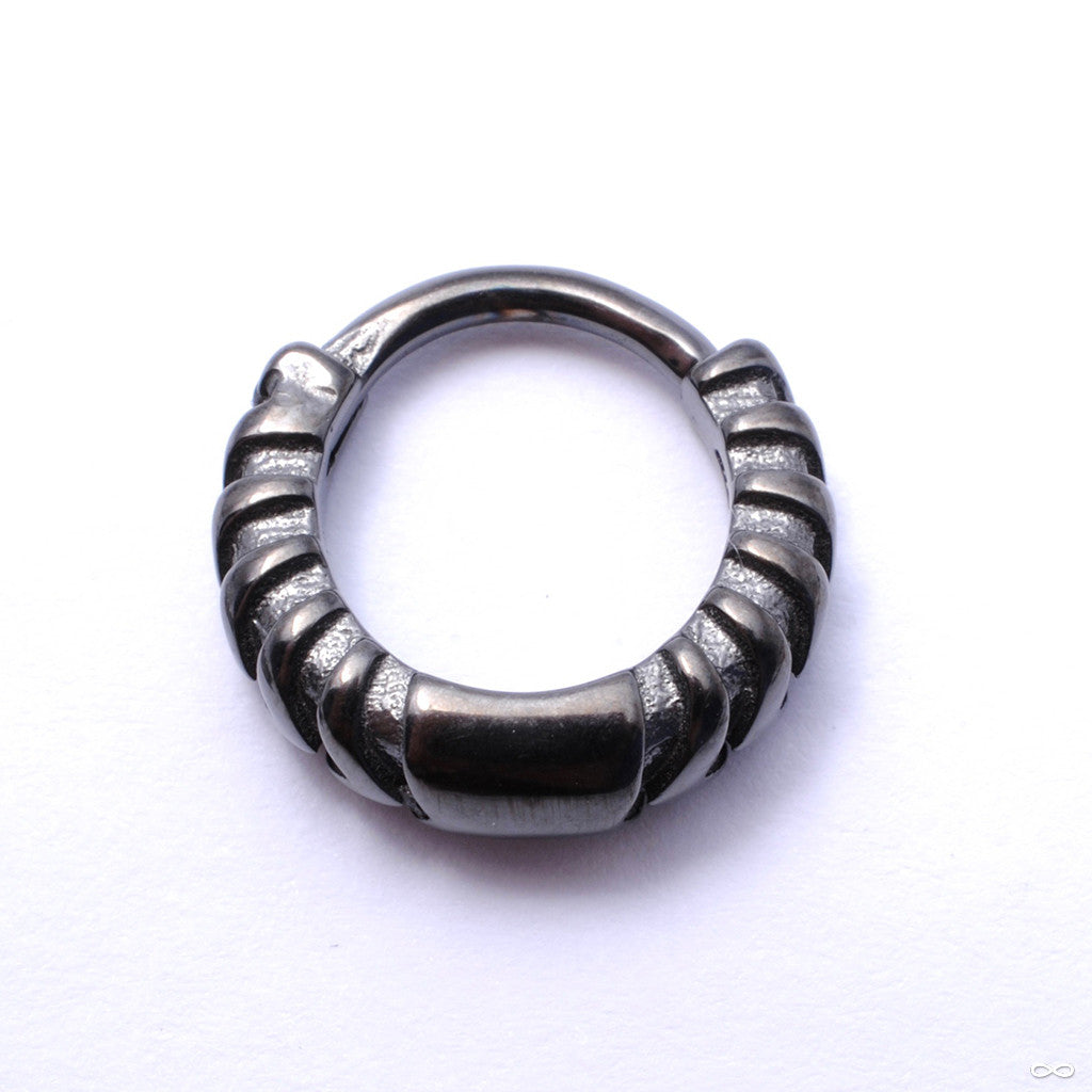 Chevronelle Clicker from Tether Jewelry in Obsidian