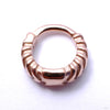 Chevronelle Clicker from Tether Jewelry in Rose Gold