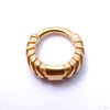 Chevronelle Clicker from Tether Jewelry in Yellow Gold