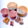 Crazy Lace Agate Plugs from Oracle in Assorted Sizes and Flares