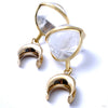 Crystal Quartz Globes with Brass Spreader Hooks from Diablo Organics