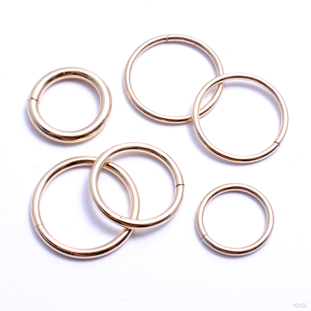 Seam Ring in Gold from Jewelry This Way in rose gold