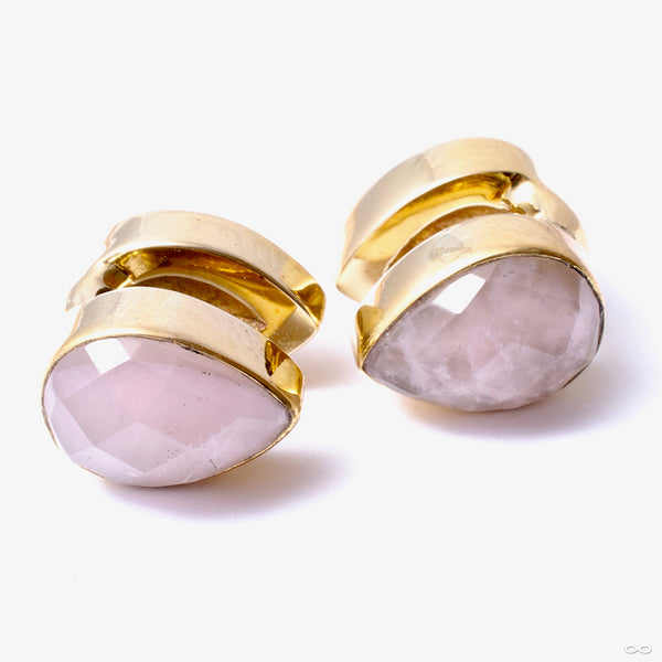 Stone Spade Weights from Diablo Organics with faceted rose quartz